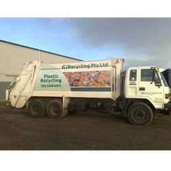GT Recycling's Flexible Polypropylene Packaging Recycling Truck